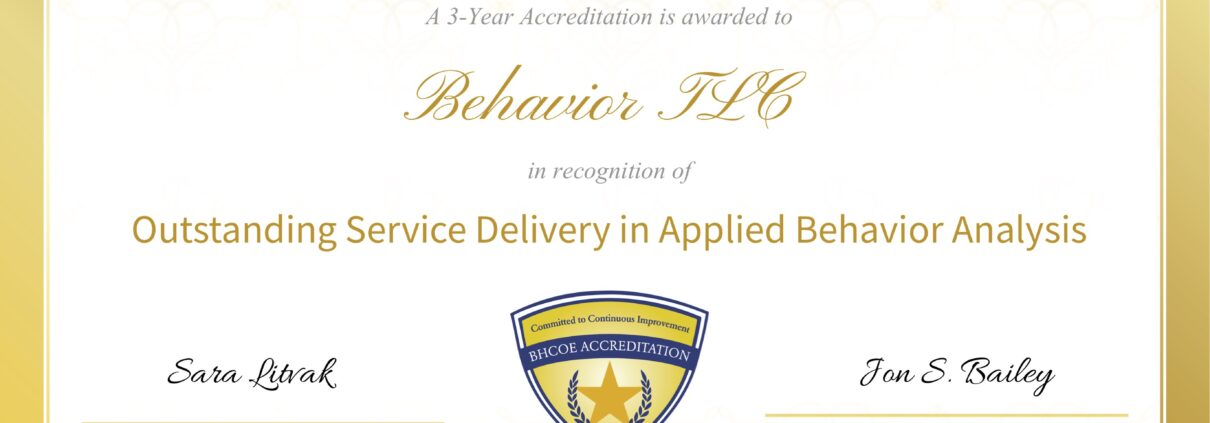 3 year renewal accreditation from Behavioral Health Center of Excellence